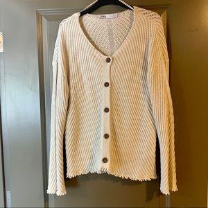 Zara Chunky Beach Sweater